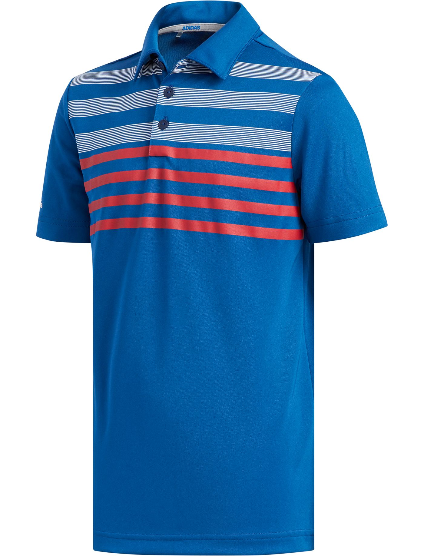 adidas Boys' Chest Stripe Fashion Golf Polo