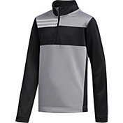 adidas Boys' Color Blocked ¼ Zip Golf Pullover