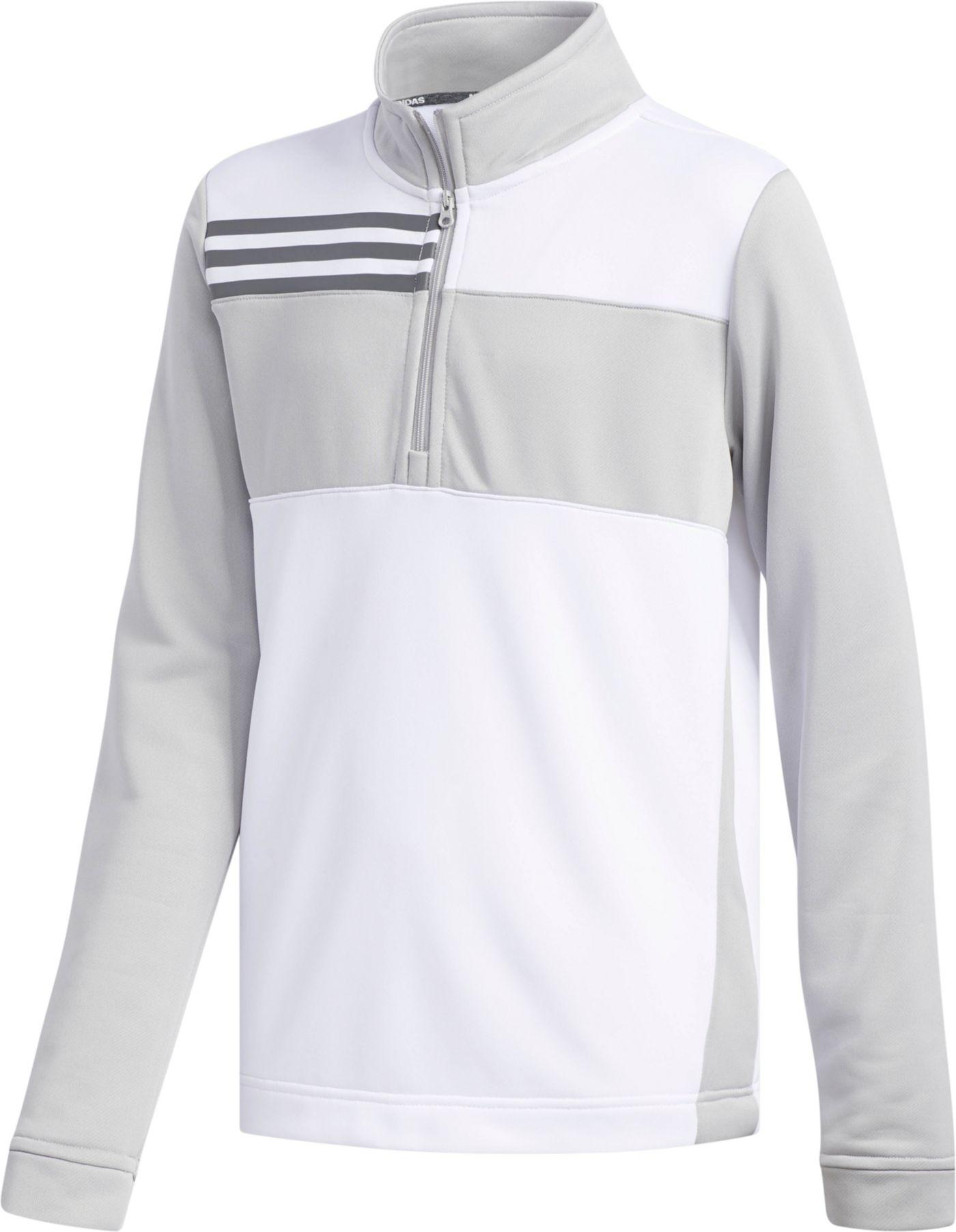 adidas Boys' Color Blocked ¼ Zip Golf Pullover