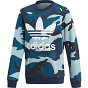 adidas Originals Boys' Camo Crewneck Sweatshirt