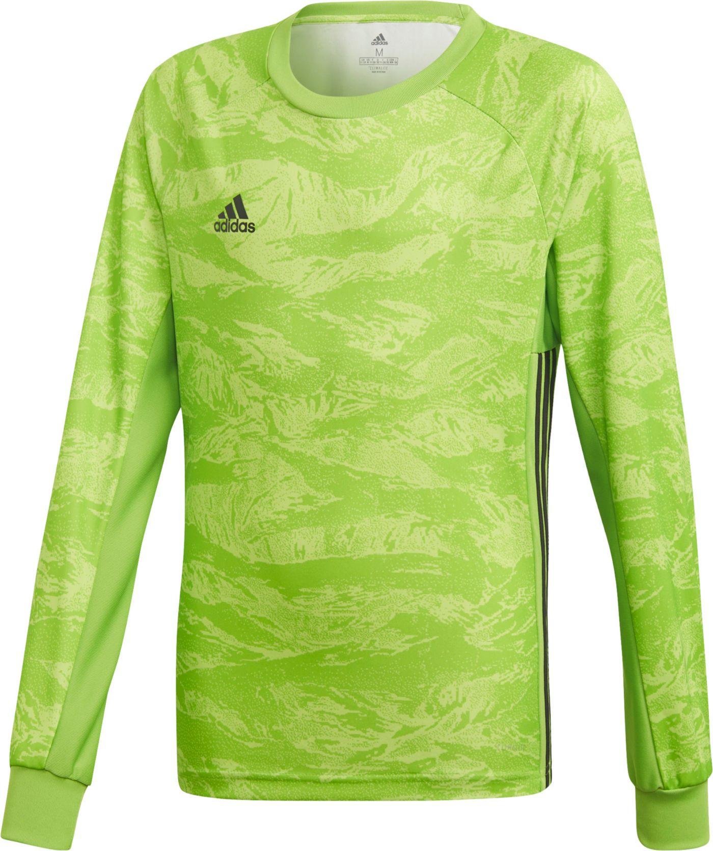 adidas Boys' Adipro 19 Goalkeeper Long Sleeve Soccer Jersey