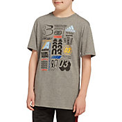 adidas Boys' Cotton Graphic T-Shirt