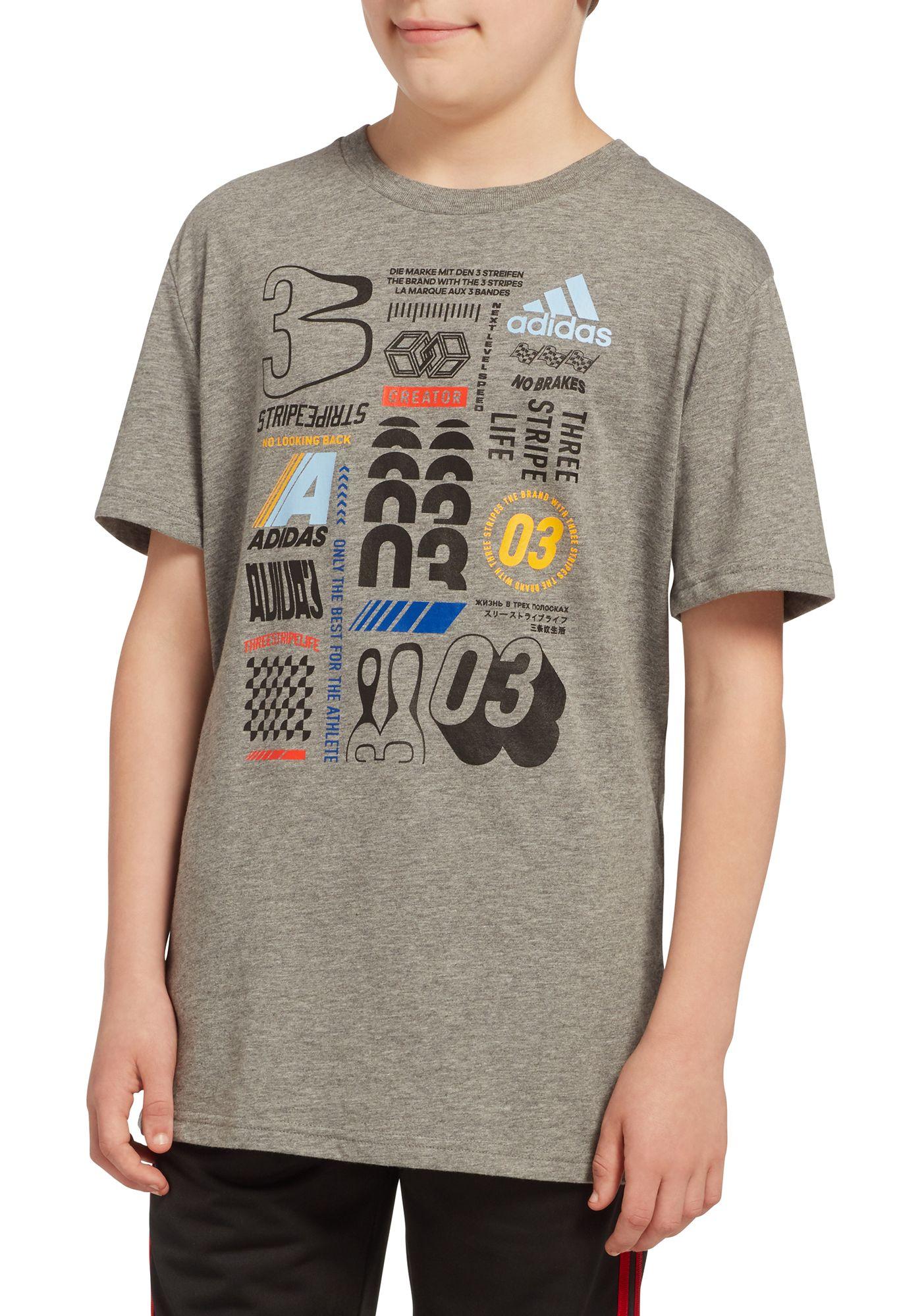 adidas Boys' Cotton Graphic T-Shirt