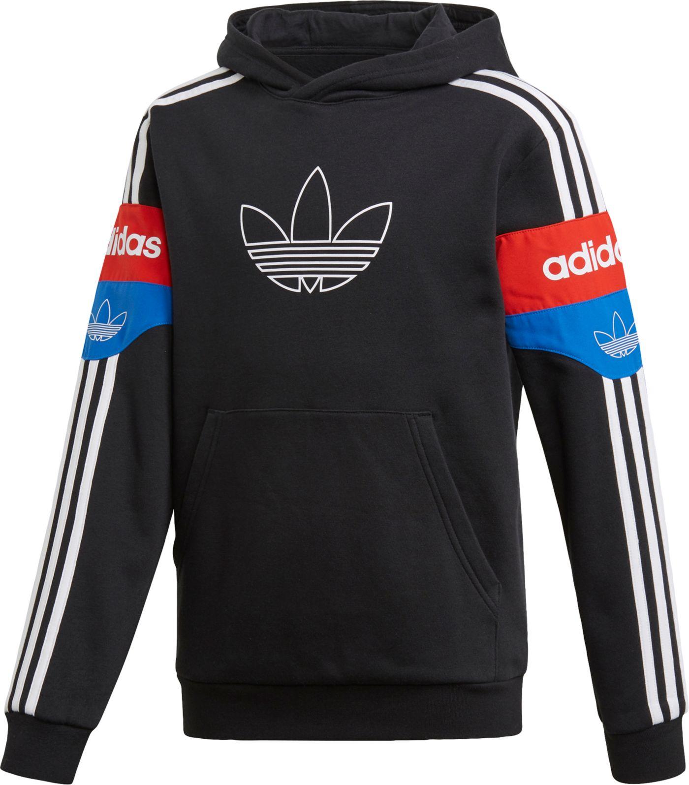 adidas Originals Boys' Graphic Colorblock Hoodie