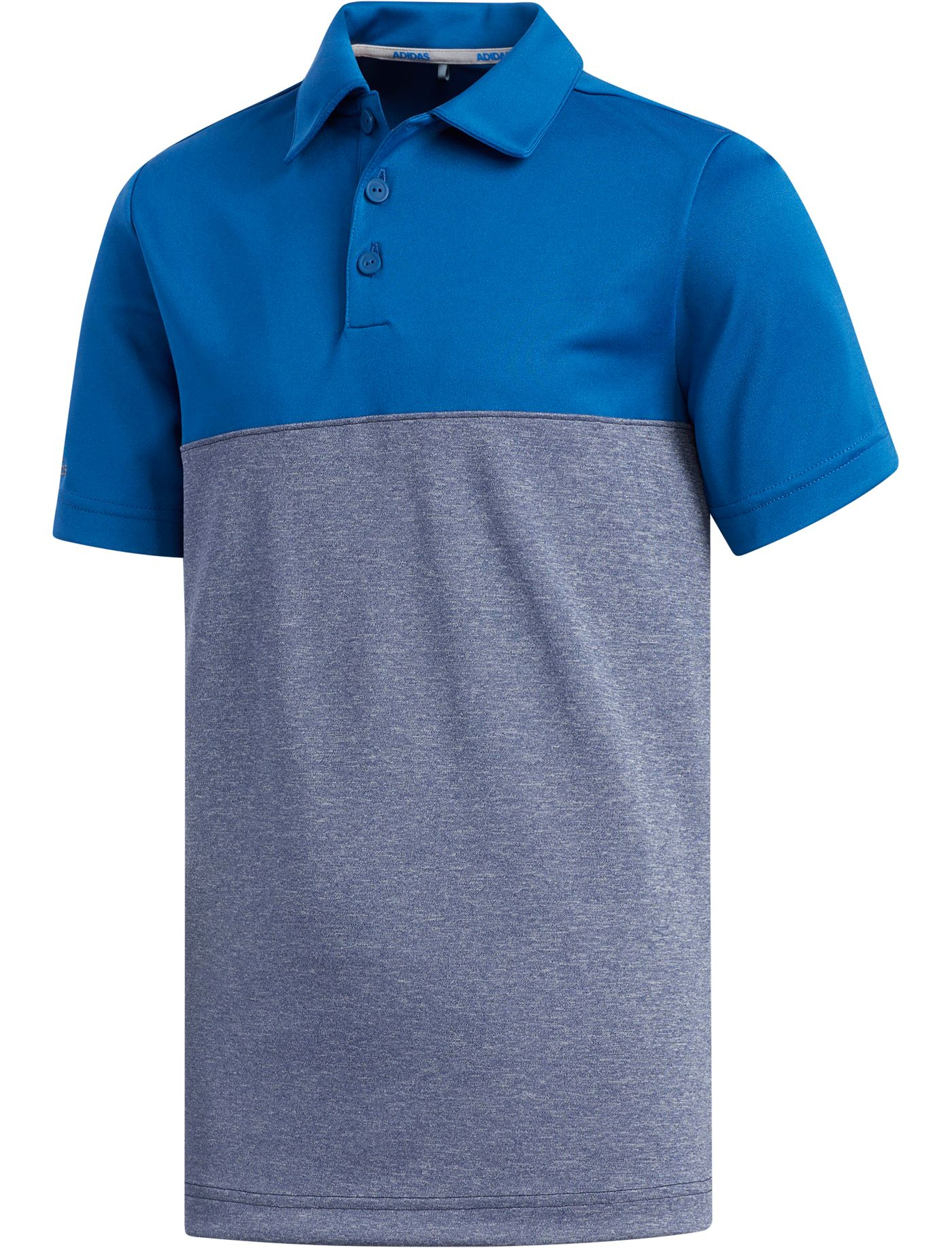 adidas Boys' Heather Color Blocked Golf Polo