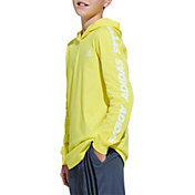 adidas Boys' Lightweight Graphic Long Sleeve Hooded Shirt