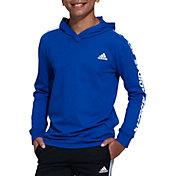 adidas Boys' Lightweight Graphic Long Sleeve Hooded Shirt