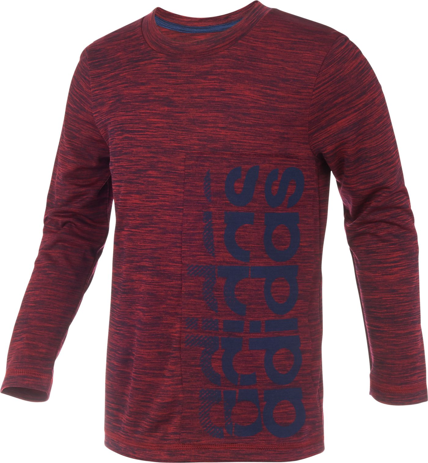 adidas Little Boys' climalite Echo Vertical Linear Long Sleeve Shirt