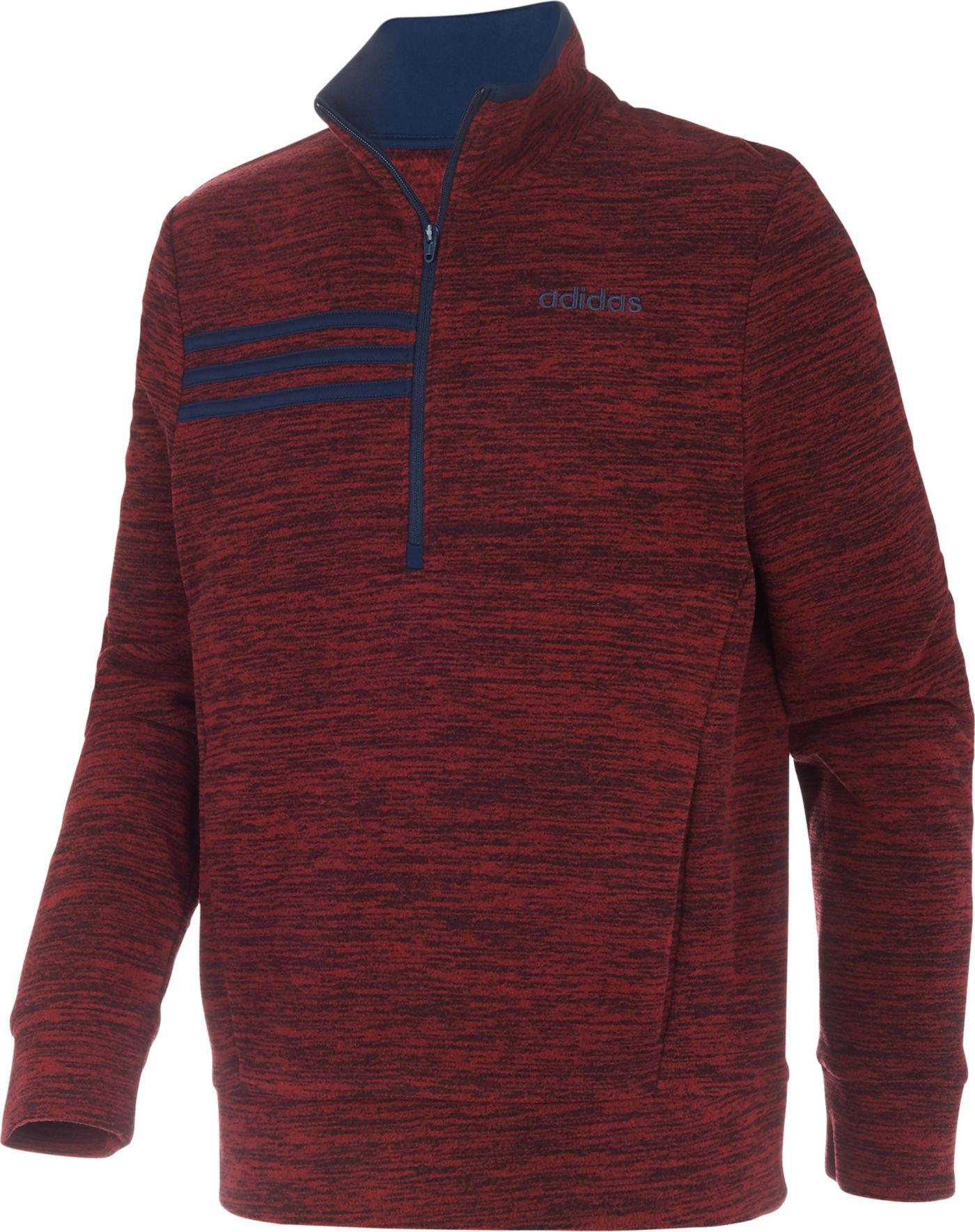 adidas Boys' Microfleece 1/2 Zip Long Sleeve Shirt