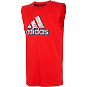 adidas Boys' Sport Print Badge of Sport Logo Graphic Tank Top
