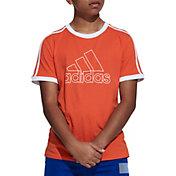 adidas Boys' Badge of Sport 3-Stripe T-Shirt