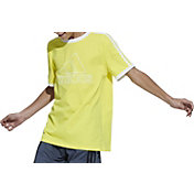 adidas Boys' Badge of Sport 3-Stripe T-Shirt