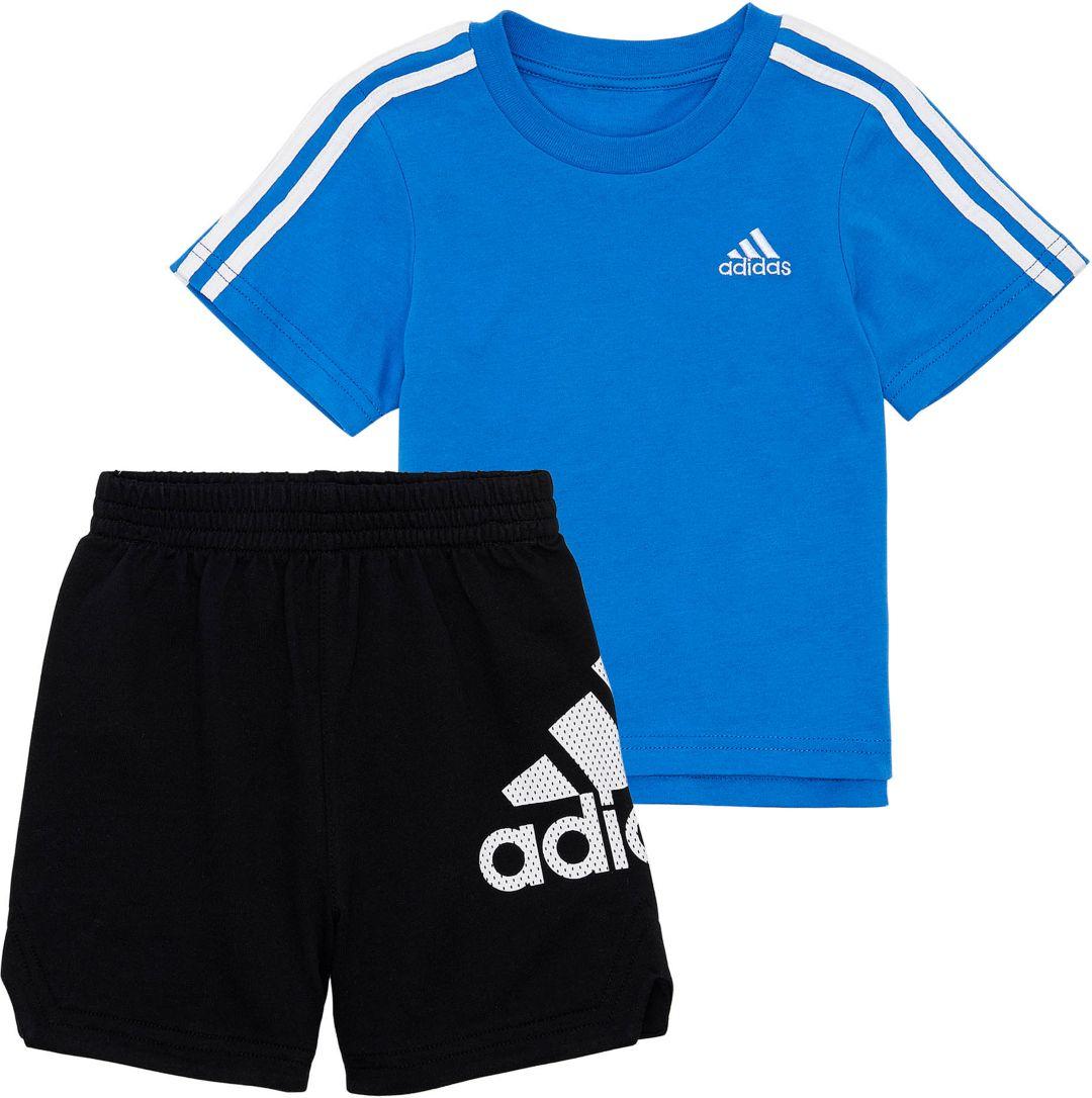 Boys' T And Short Adidas Set Little Shirt Sport OPZXuki