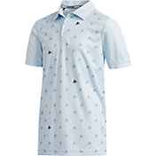 adidas Boys' Printed Golf Polo