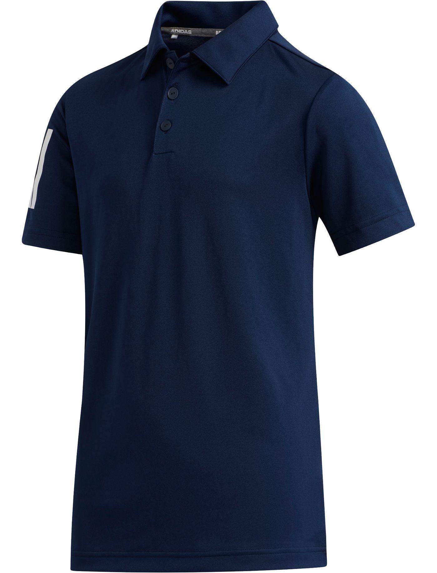 adidas Boys' Three-Stripe Golf Polo