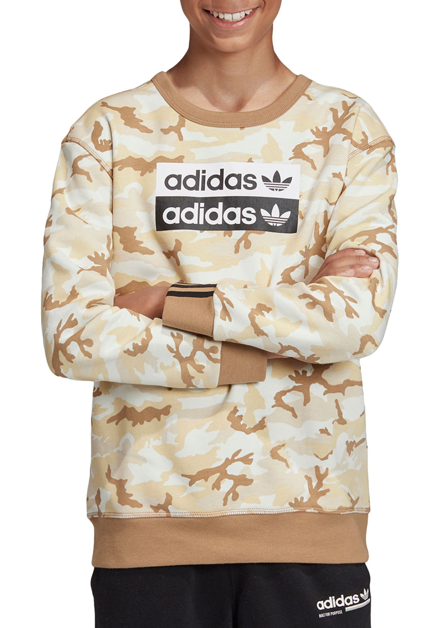 adidas Originals Boy's Vocal Camo Crewneck Sweatshirt