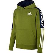 adidas Boys' Fleece 3-Stripes Hoodie