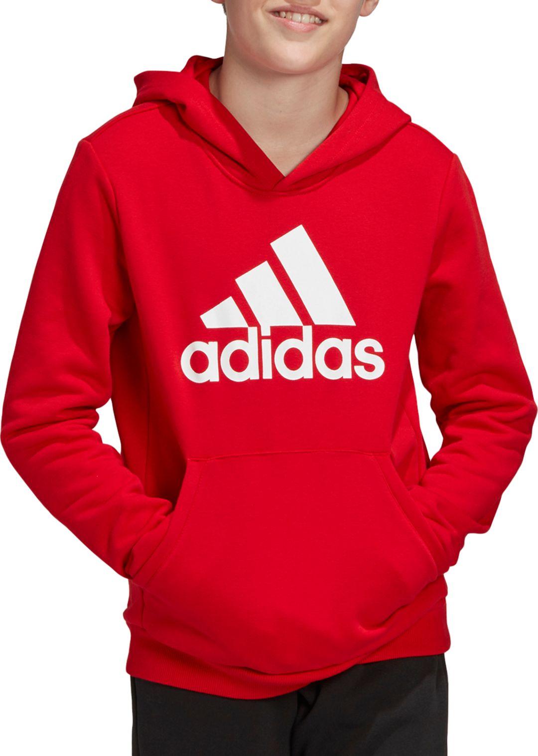 adidas Boys' Must Haves Badge Of Sport Pullover Hoodie