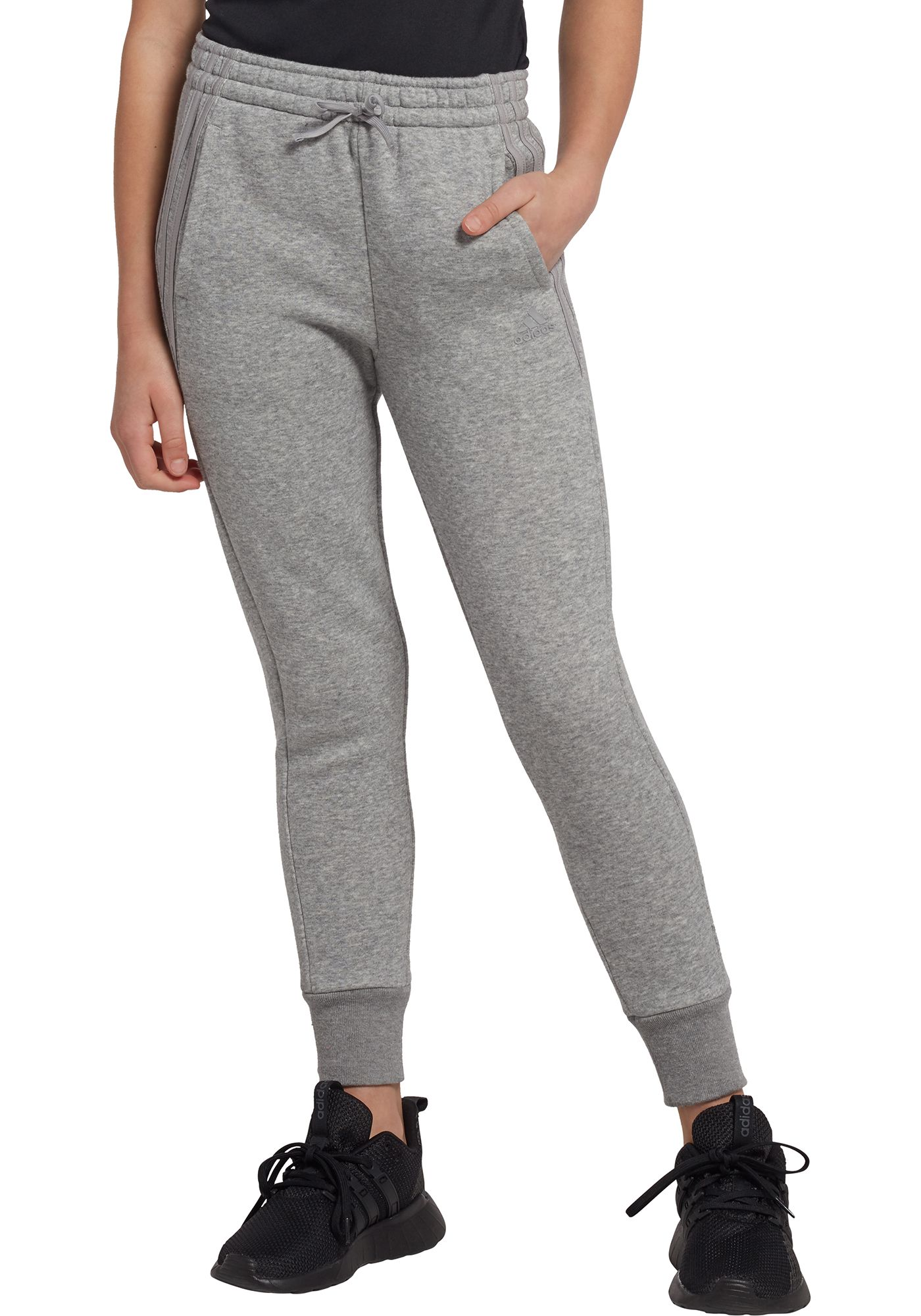 adidas Girls' Fleece Jogger Pants