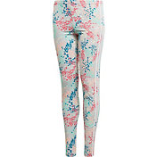 adidas Originals Girls' 3-Stripe Floral Leggings