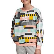 adidas Originals Girls' 90s' Trefoil Crewneck Sweatshirt