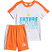 adidas Toddler Girls' Boston Marathon Running T-Shirt and Shorts Set