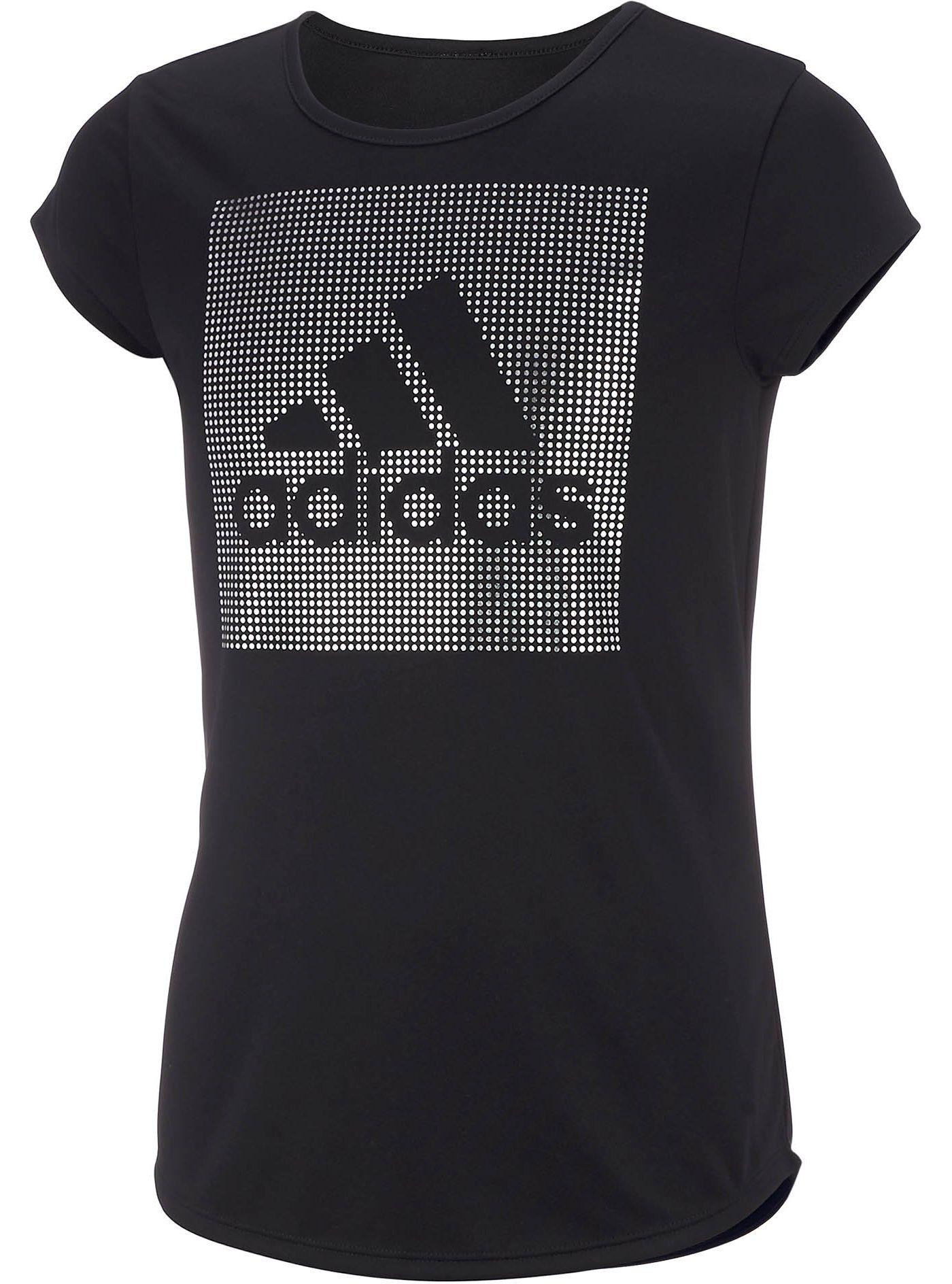 adidas Little Girls' Rainbow Foil T-Shirt
