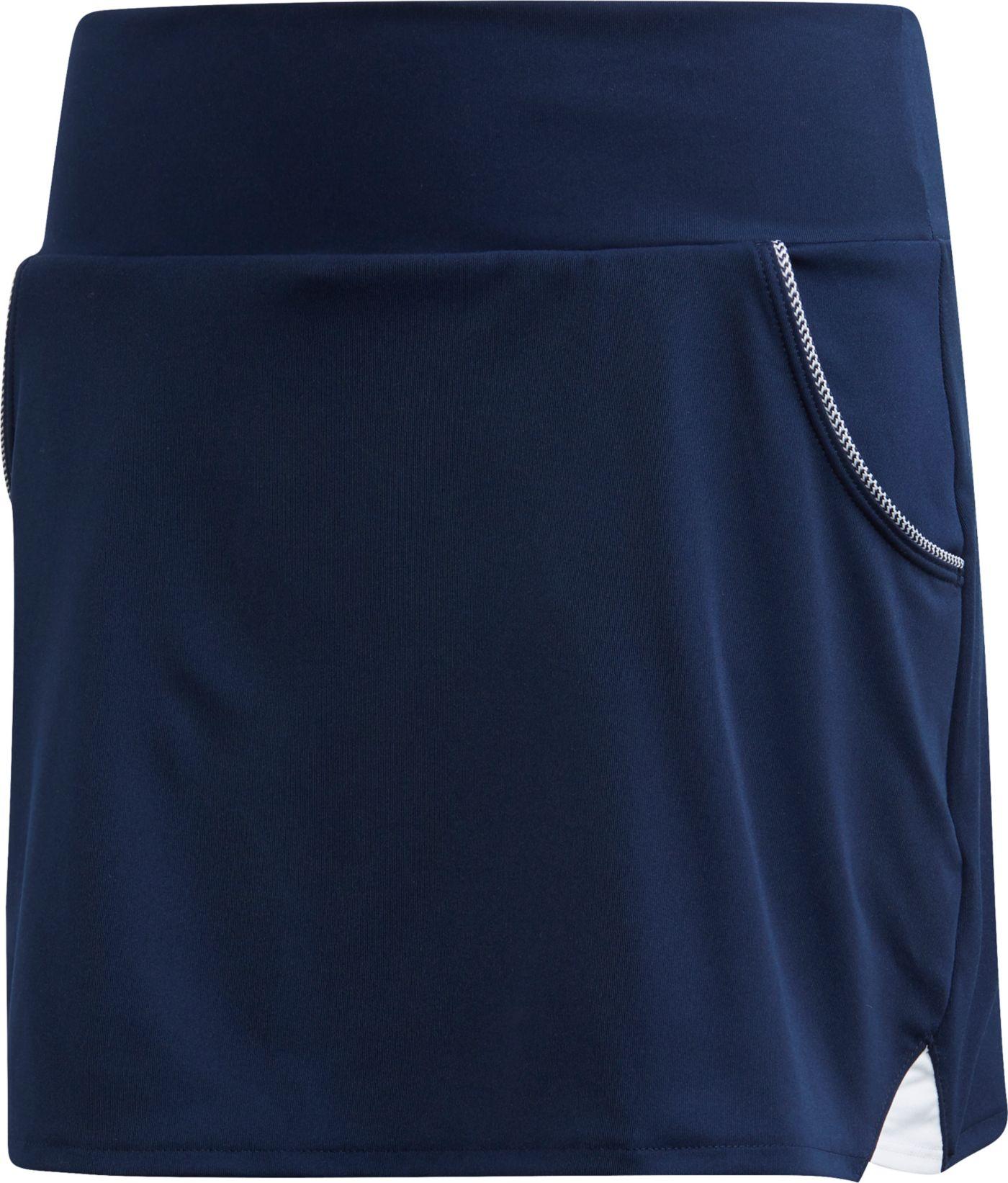adidas Girls' Club Piped Pocket Tennis Skort