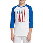 adidas Girls' Destiny ¾ Sleeve Softball Graphic T-Shirt