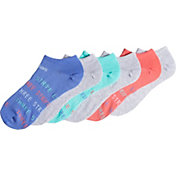 adidas Girl's Superlite Three Stripe Life No Show Socks 6-Pack
