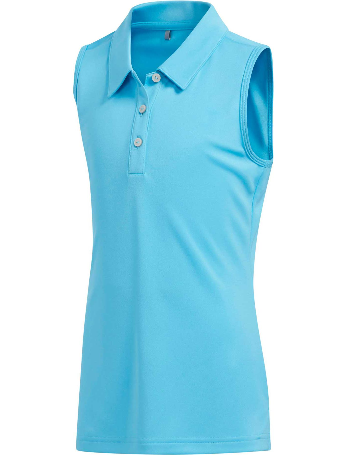 adidas Girls' Tournament Sleeveless Golf Polo