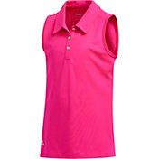 adidas Girls' Tournament Sleeveless Golf Polo