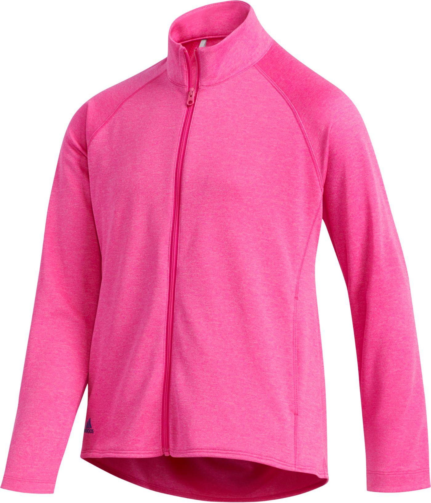 adidas Girls' Heathered Full-Zip Golf Jacket
