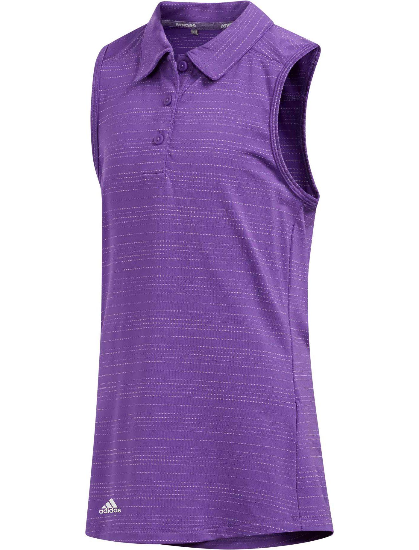 adidas Girls' Microdot Novelty Sleeveless Golf Polo