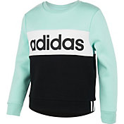 adidas Girls' Pieced Crew Sweatshirt