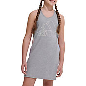 adidas Girls's Racerback Stripe Sleeveless Dress