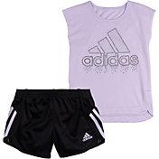 adidas Little Girls' T-Shirt and Soccer Shorts Set