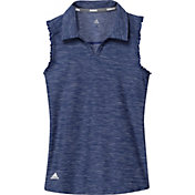 adidas Girls' Space-Dyed Sleeveless Golf Polo