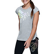 adidas Girls' Wordmark Graphic T-Shirt
