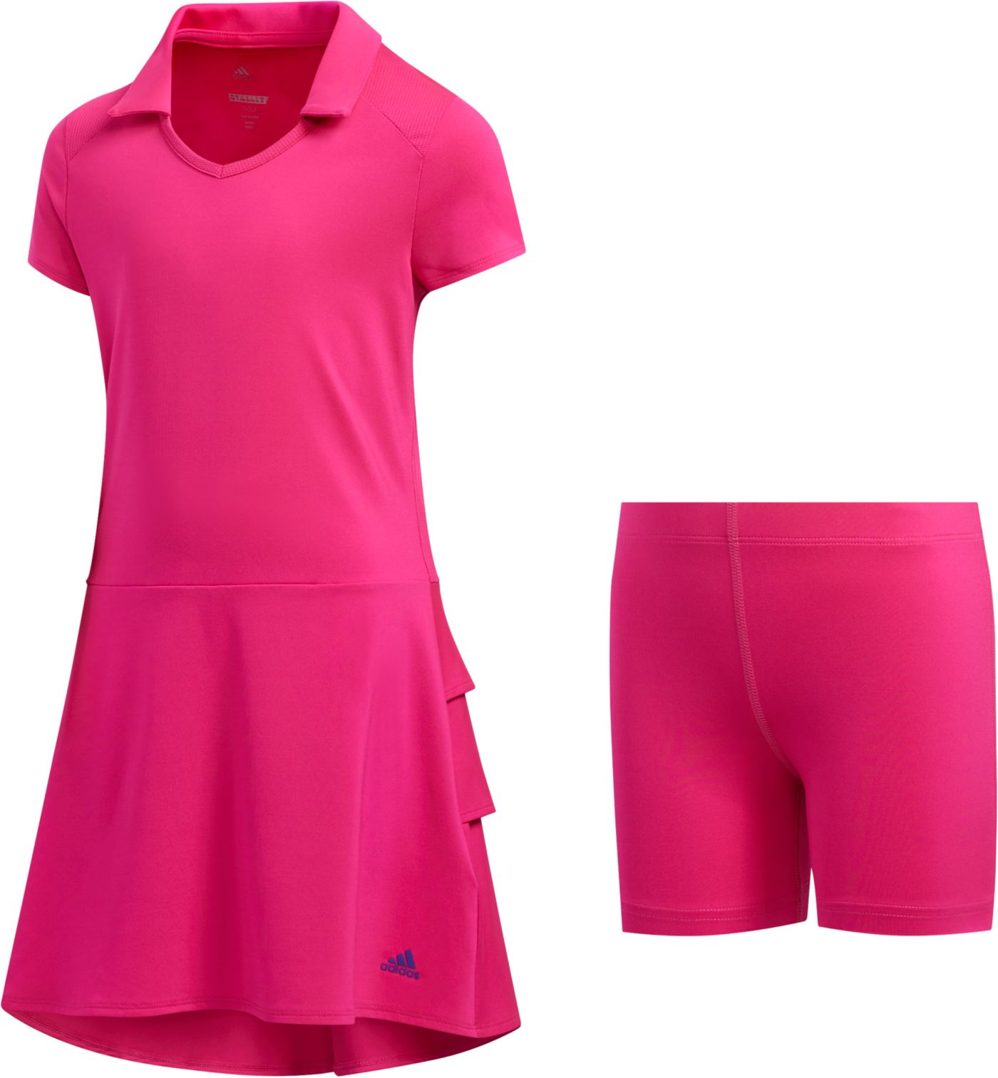 adidas Girls' Ruffled Golf Dress