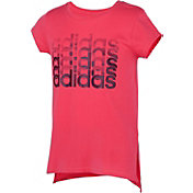 adidas Girls' Linear Thank You Graphic T-Shirt