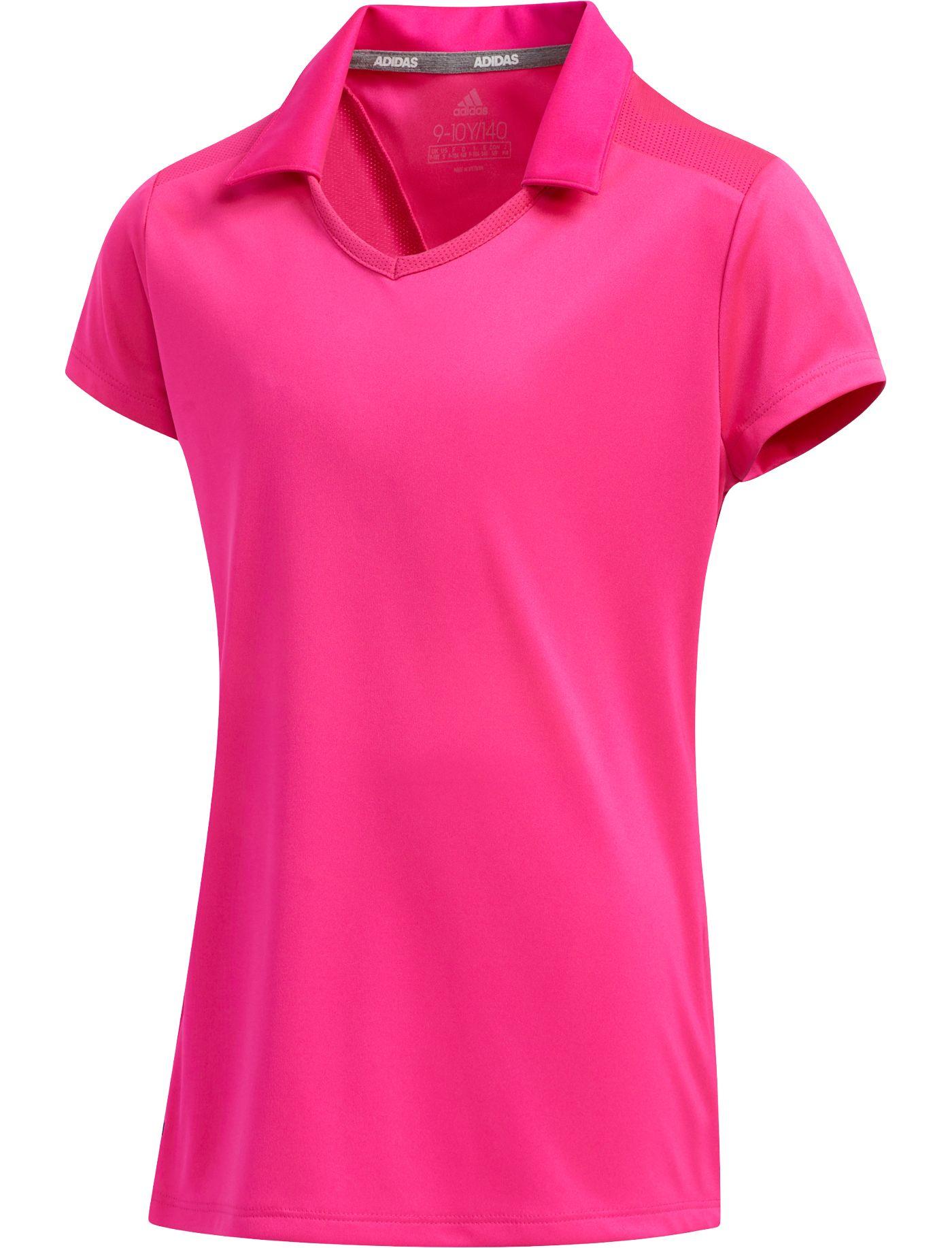 adidas Girls' Solid Golf Polo