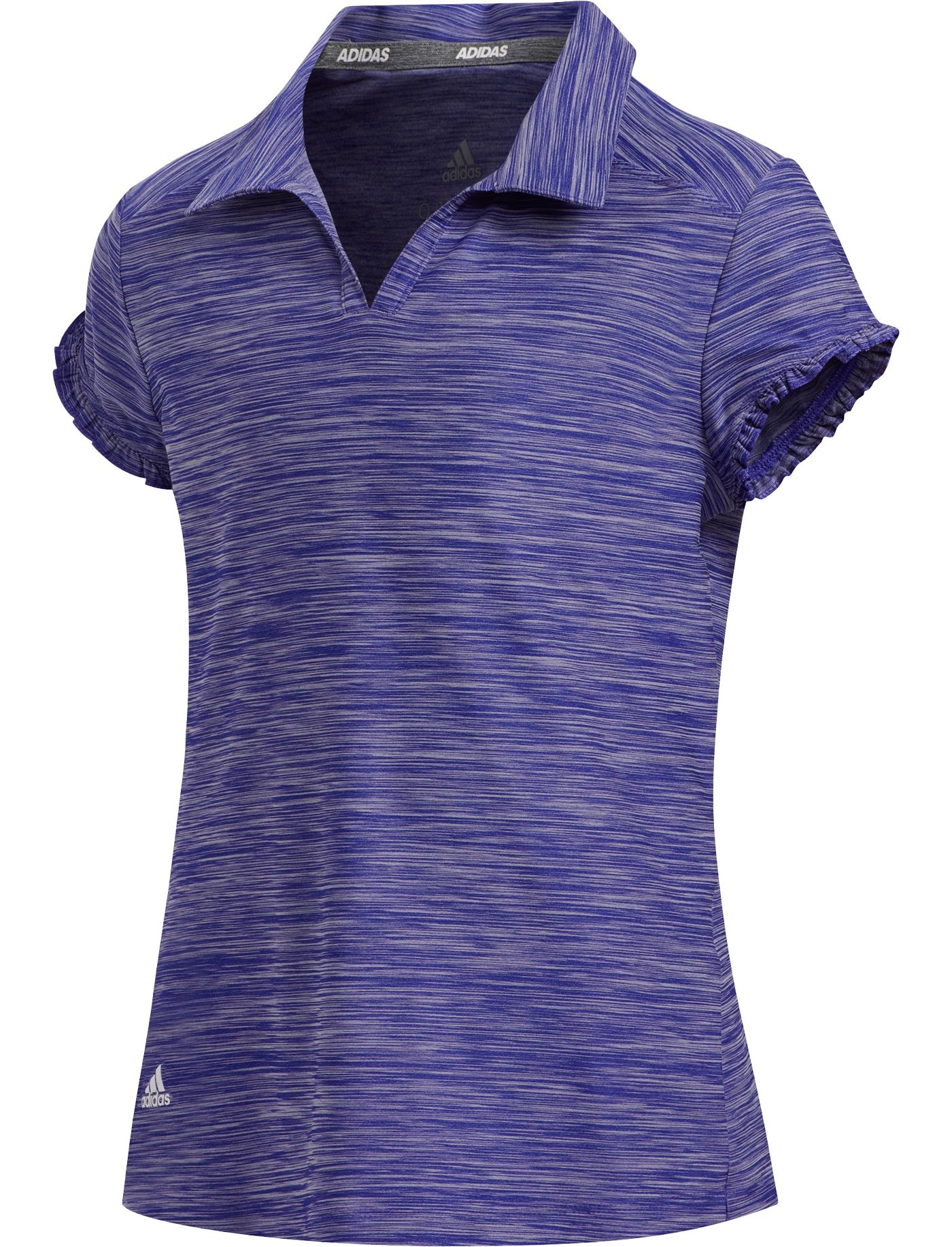 adidas Girls' Space-Dyed Golf Polo