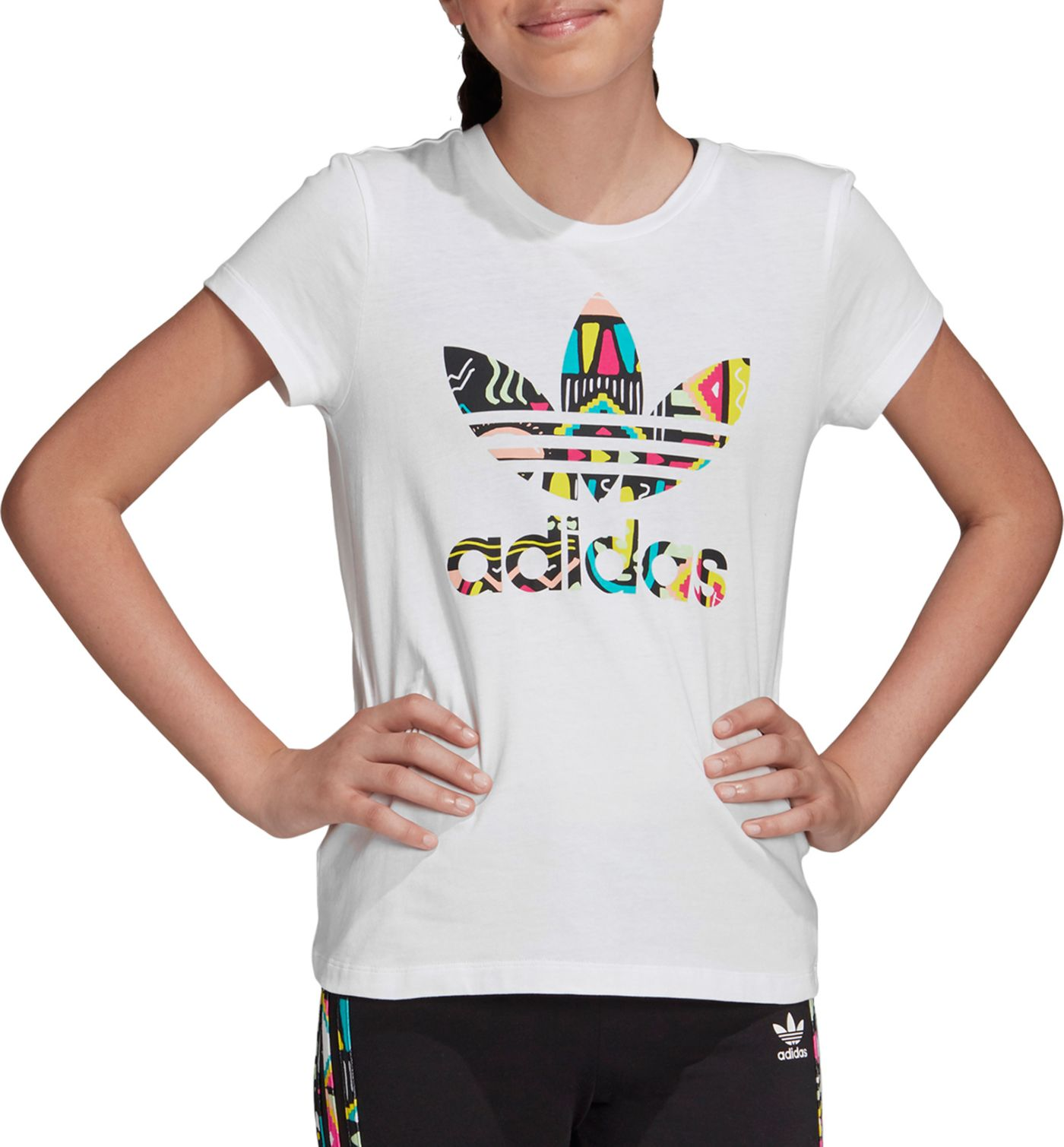 adidas Originals Girl's Trefoil Belair Novelty T-Shirt