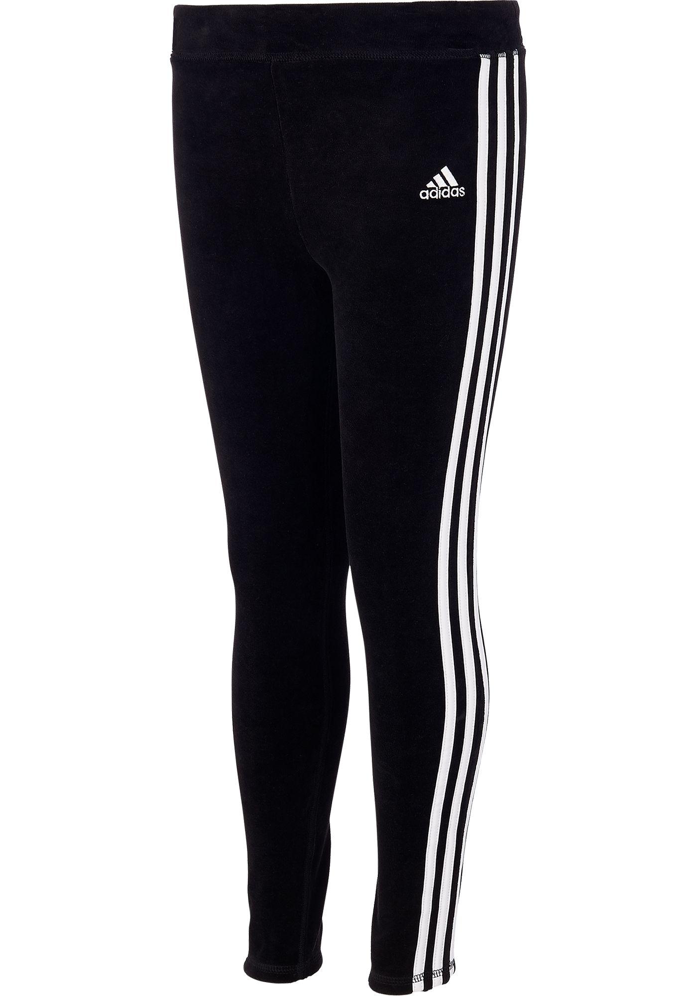 adidas Girls' Velour Stripe Tights