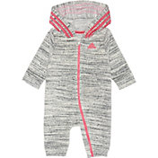 adidas Infant Girls' Heather Velour Hooded Onesie