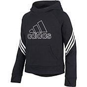 adidas Girls' Fleece 3-Stripe Hoodie