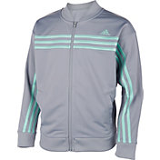 adidas Girls' 3-Stripes Tricot Jacket