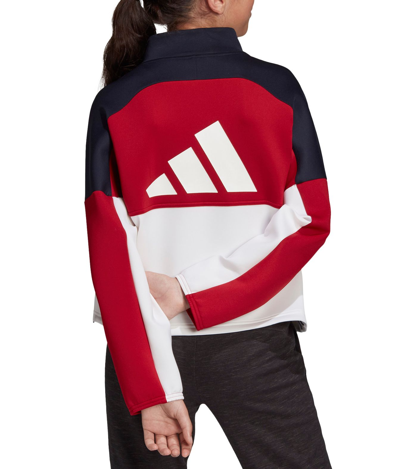 adidas Girls' The Pack Half Zip Jacket