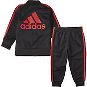adidas Infant Boys' Classic Zip Front Tricot Jacket and Jogger Pants Set